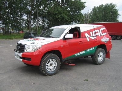 Toyota Land Cruiser VDJ200 NAC Rally Team – ready to go