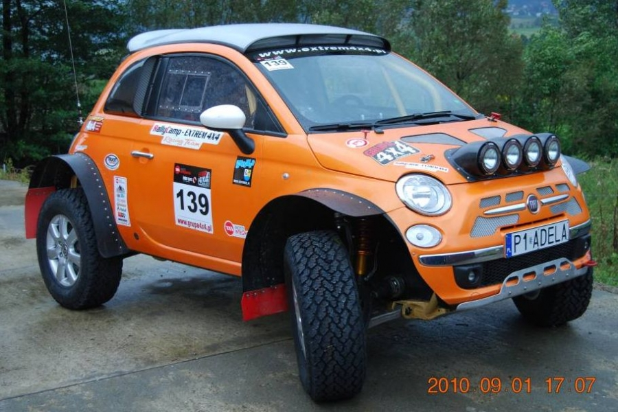 Fiat 500 (2010) wg EXTREM 4X4 i Rally Camp