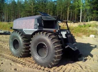 Szerpa ATV - łazik z bagien