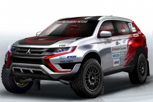 Mitsubishi Outlander PHEV na mecie Asia Cross Country Rally 2015
